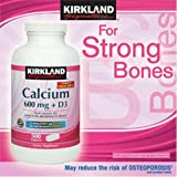 Kirkland Signature Calcium 600 Mg + D3 500 Tablets
