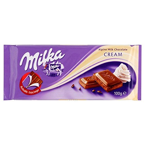 Milka Cream Milk Chocolate 100g - Pack of 6