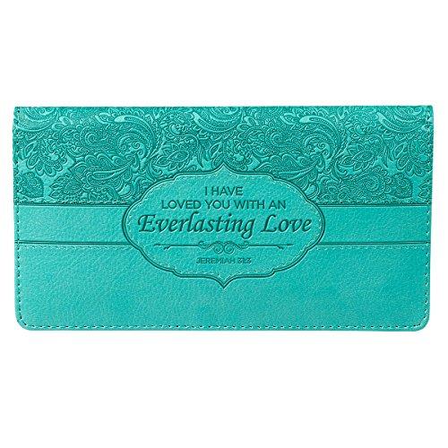 Turquoise-Everlasting-Love-Checkbook-Cover