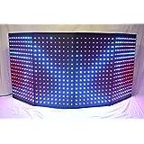 LED Dj Rectangular Facade Dj Booth (4 panels) (Color: Black, Tamaño: 42