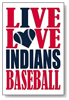 Live Love I Heart Indians Baseball lined journal - any occasion gift idea for Cleveland Indians fans from WriteDrawDesign.com