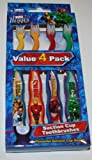 Dr. Fresh Marvel Heroes Value 4 Pack Suction Cup Toothbrushes
