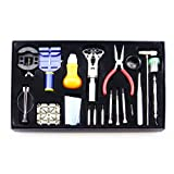 LB1 High Performance New Watch Repair Tool Kit for Tissot Men's T0444302105100 PRS 516 Black Day Date Dial Watch - 20 in 1 Professional Watch Repair Tool Set