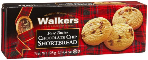 Walkers Shortbread Chocolate Chip, 4.4-Ounce (Pack of 4)