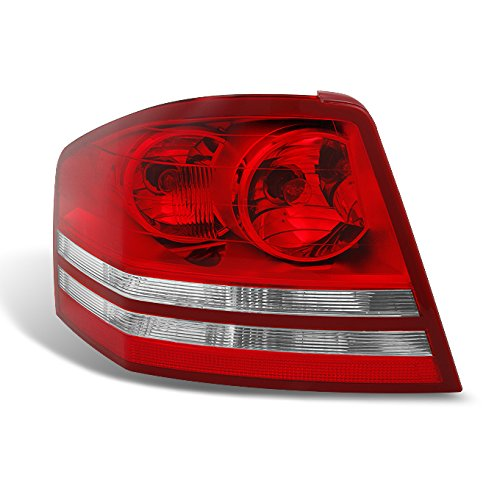 2008-2009-2010-dodge-avenger-lh-left-driver-side-red-clear-replacement-tail-lights-tail-lamps-pair