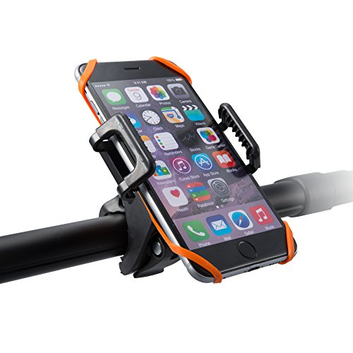 Bicycle Bike Mount Holder, Universal TaoTronics Cradle Rack for Smartphone, GPS and other Devices (One-button Released, 360 degrees Rotatable, Rubber Strap)