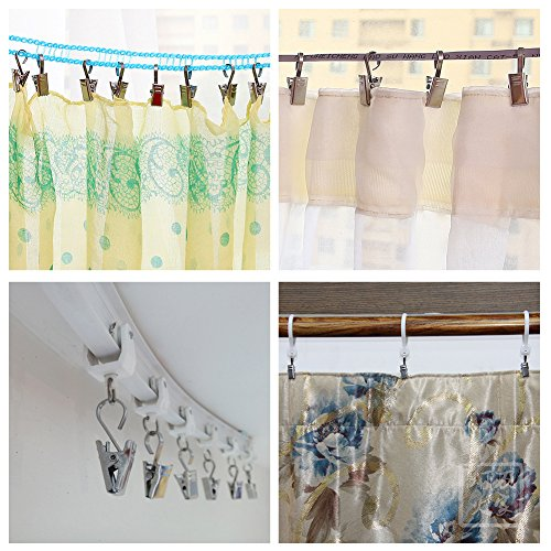 Aligle Tm Heavy Duty Curtain Clips Hook Extra Hard Thickening Home Decoration Arts Crafts
