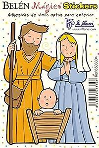 Detalles Infantiles - Adhesivo de vinilo pequeño navidad sagrada familia por La Lluna
