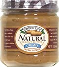 Smucker's Natural No Salt Added Creamy Peanut Butter, 12-Ounce Glass Jars (Pack of 12)