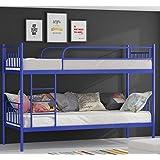 etagenbett hochbett stockbett metall lattenrost neu 90x200 cm blau - Coolste Etagenbetten