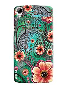 Omnam Flower Pattern Printed Designer Back Cover Case For HTC Desire 828
