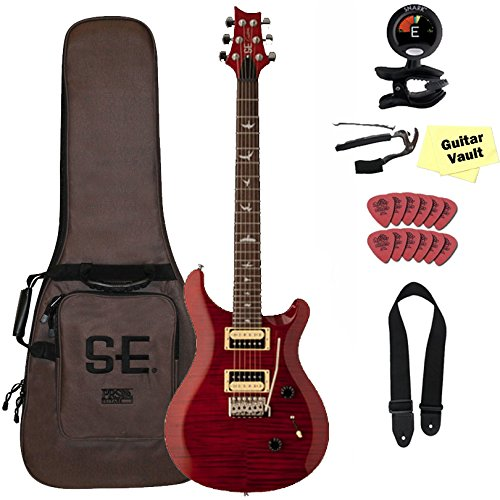 PRS SE Custom 24 Black Cherry with Gig Bag and guitarVault Accessory Pack (Prs Custom 24 Se compare prices)