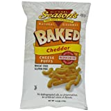 Michael Season's Baked Cheddar Cheese Puffs, 5.5 Ounce Bags (Pack of 12) ~ Michael Season's