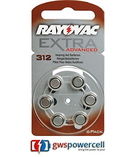 RAYOVAC piles 1,45 v 6 pièces (ensemble) batteries d'appareils auditifs-aCOUSTIC sPECIAL 675/312/13/10-eXTRA aDVANCED 10/13/312/675-eXTRA mERCURY fREE