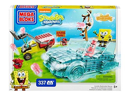 Mega Bloks SpongeBob Invisible Boatmobile Rescue - 1