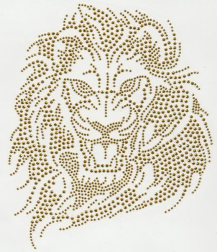 Sue's Sparklers - Gold Lion rhinestone Transfer