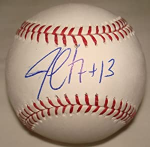 Jim Leyritz Hand Signed Autographed Official Major League Baseball MLB by VIP Memorabilia