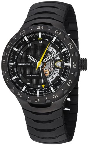MomoDesign Race Master Automatic GMT Men's Black PVD Titanium Watch MD090BK-02BK-MB