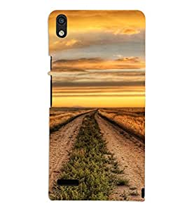 PrintVisa Beautiful Field Design 3D Hard Polycarbonate Designer Back Case Cover for Huawei Acend P6