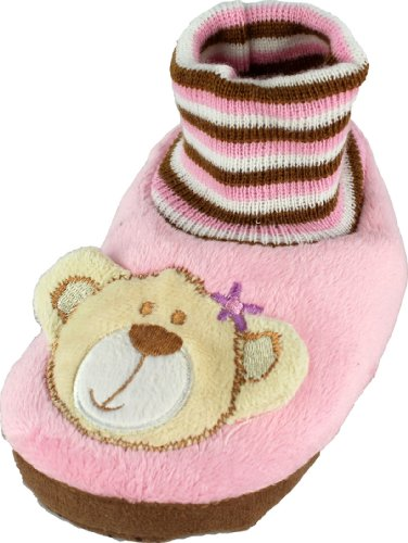 Image of Bear Toddler Sock Top Animal Bootie Slippers 5/6-9/10 (B008LUC1RQ)