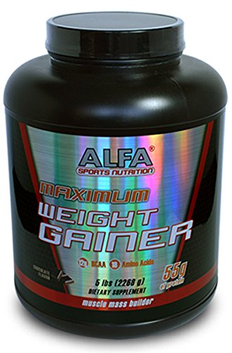 Maximun Weight Gainer Chocolate Flavor 5 Lbs. Sports Nutrition High Protein Weight Gainer