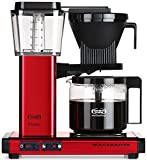 Technivorm-Moccamaster KBG 741 10-Cup Coffee Brewer with Glass Carafe, Red Metallic