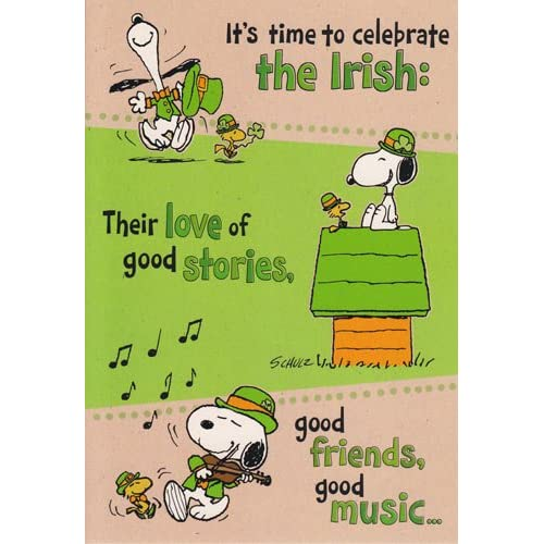 st patrick's day snoopy flag at michaels