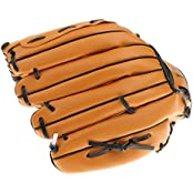 "10.5"" 11.5"" 12.5"" Team Sports Left Handed Wear-resistant Youth Baseball Glove Mitts - Brown"