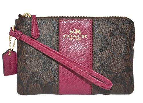 coach-womens-signature-pvc-leather-corner-zip-wristlet-multi-brown
