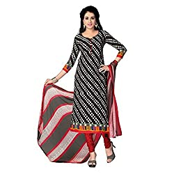 High fashion designs in unstitched printed synthetic Chudidhar