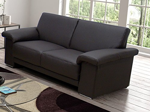 Oregon FK Dark Brown Faux Leather 3Seater Sofa