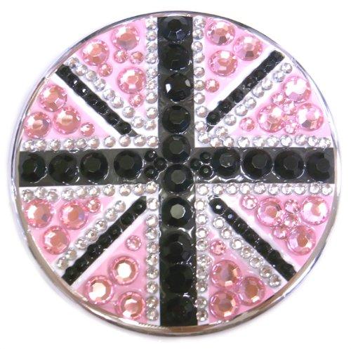 シャイニーミラー イギリスシリーズ ユニオンジャック ピンク×ブラック
