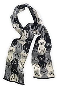Green 3 Apparel Recycled Repeating Kitty USA-made Scarf (Grey)