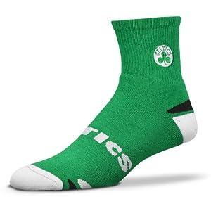 NBA Boston Celtics V-Grip Promo Crew Socks - Kelly Green White by For Bare Feet