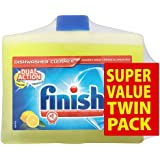 Finish Dual Action Dishwasher Cleaner 2 x 250 ml (Pack of Two)