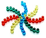 50 x PowerPins - Push-Pin Magnets Perfect For Home & Office [#1 Magnet For Fridges, Calendars, Whiteboards & Maps!] Handy Storage Container Included Free!