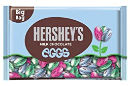 Hershey\'s Easter Milk Chocolate Eggs, 18-Ounce Bags (Pack of 3)