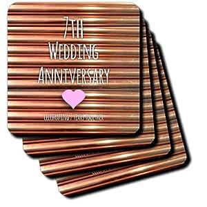 3dRose cst_154436_1 7th Wedding Anniversary Gift Copper Celebrating 7 ...