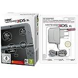 New Nintendo 3DS XL metallic schwarz (TN Variant) + Nintendo 3DS / 3DS XL / DSi / DSi XL - Power Adapter