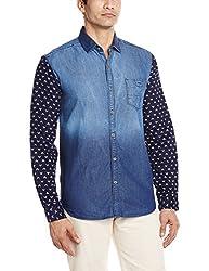 Locomotive Men's Casual Shirt (15110001455780_LMSH010358_Medium_Blue Denim)
