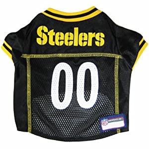 Pets First NFL Pittsburgh Steelers Jersey, XL from SteelerMania