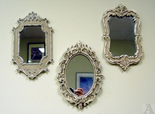 Antique Style Mantle Bathroom Bedroom Ornate Mirror Set Of 3 Friday September 25 2009