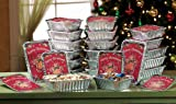24Pc Holiday Gingerbread Foil Containers
