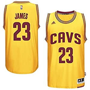 Mens Cleveland Cavaliers LeBron James adidas Gold 2014-15 New Swingman Alternate Jersey