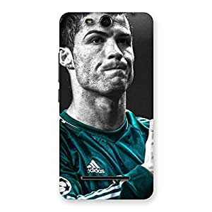 Voila Calm Soccer Star Back Case Cover for Micromax Canvas Juice 3 Q392