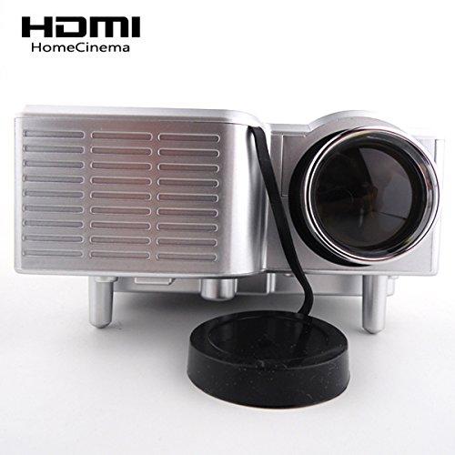 Aometech Uc28 Mini Led Portable Projector 320X240 Av Vga Sd Usb Slot With Remote Control--Silver