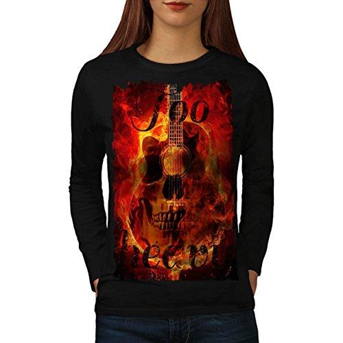 Cranio Concerto Flames Festival Da donna Nuovo Nero XL T-Shirt Manica Lunga | Wellcoda