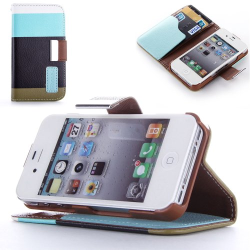 Mylife (Tm) Colors Of Earth Design - Textured Koskin Faux Leather (Card And Id Holder + Magnetic Detachable Closing) Slim Wallet For Iphone 4/4S (4G) 4Th Generation Touch Phone (External Rugged Synthetic Leather With Magnetic Clip + Internal Secure Snap I