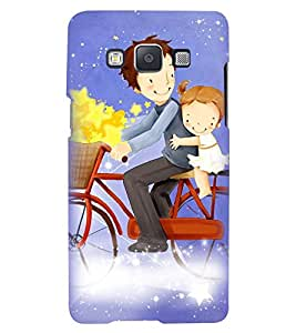 Printvisa Premium Back Cover Father Daughter On A Bicycle Design For Samsung Galaxy A5::Samsung Galaxy A5 A500F