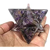 Orgone Purple Amethyst Chips Merkaba Star Large Crystal Sacred Geometry Reiki Point 8 Healing